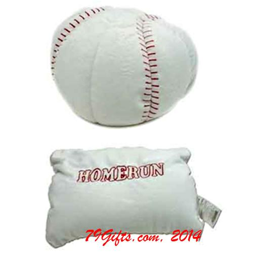 Two in One Stuffed Pillow Baseball
