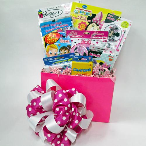 Mickey or Minnie Gift basket