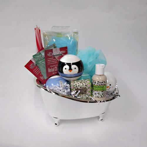 Holiday Bath Break Gift Basket