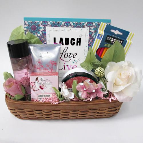 Laugh, Love and Pamper Gift Basket