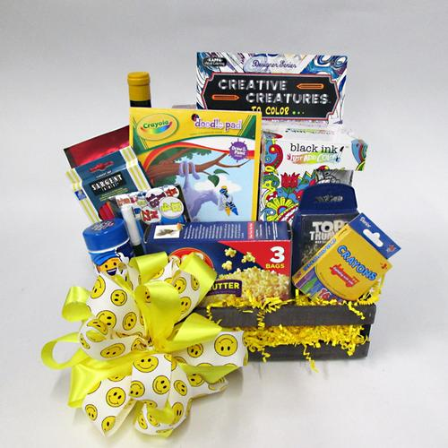 Family Fun Night Gift Basket